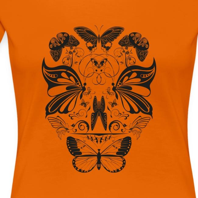 Butterfly skull face black