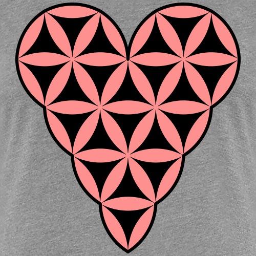 Heart of Life x 1 - Vector with custom colors - Women's Premium T-Shirt