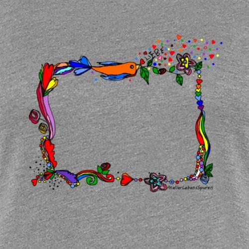 Rahmen mit Herz - Frauen Premium T-Shirt