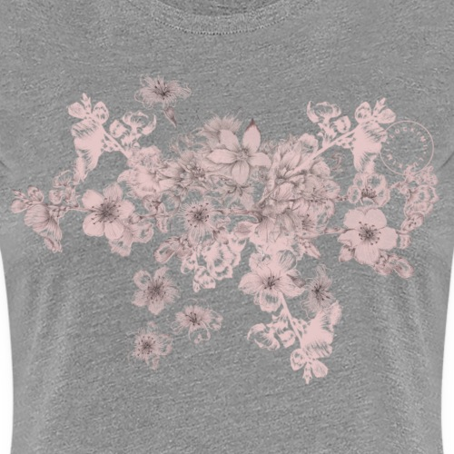 Pink bouquet - Dam - Women's Premium T-Shirt