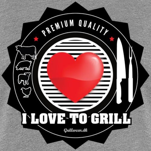 LOVETOGRILL png - Dame premium T-shirt