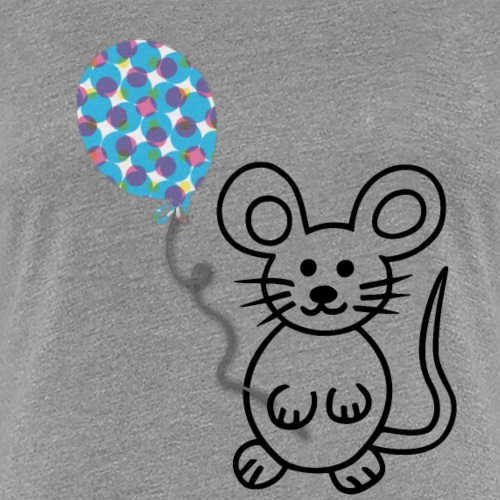 Maus, Luftballon - Frauen Premium T-Shirt