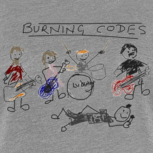 Burning Codes - Karen's amazing artwork - Women's Premium T-Shirt