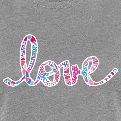 Love in pink with white - Women's Premium T-Shirt