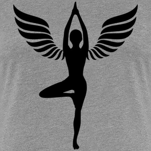 yoga beflügelt - Frauen Premium T-Shirt