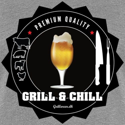 GRILLcHILL png - Dame premium T-shirt