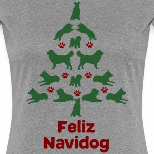Feliz Navidog Weihnachten Hund Hundehalter - Frauen Premium T-Shirt