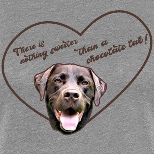 Labrador T-Shirt Chocolate Lab - Frauen Premium T-Shirt