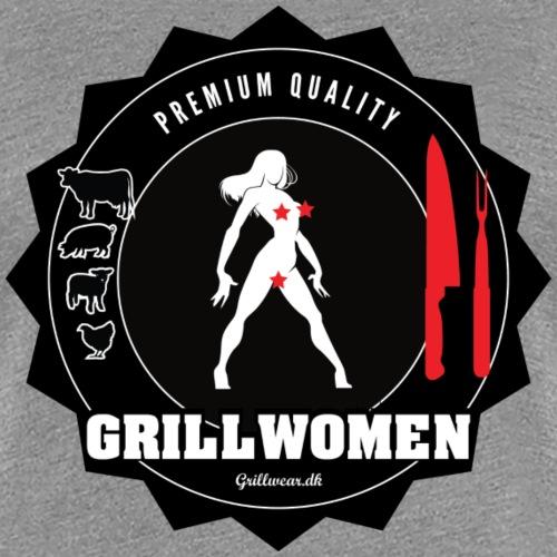 GRILLWOMEN png - Dame premium T-shirt