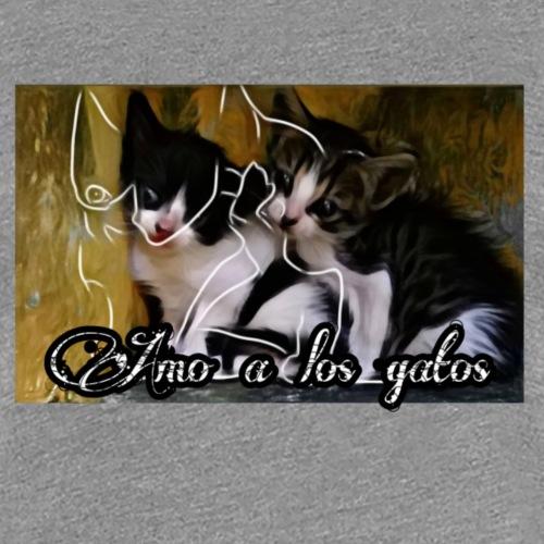 Amor por los gatos - Camiseta premium mujer