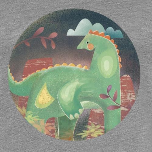 Dinosaur in the landscape - Maglietta Premium da donna