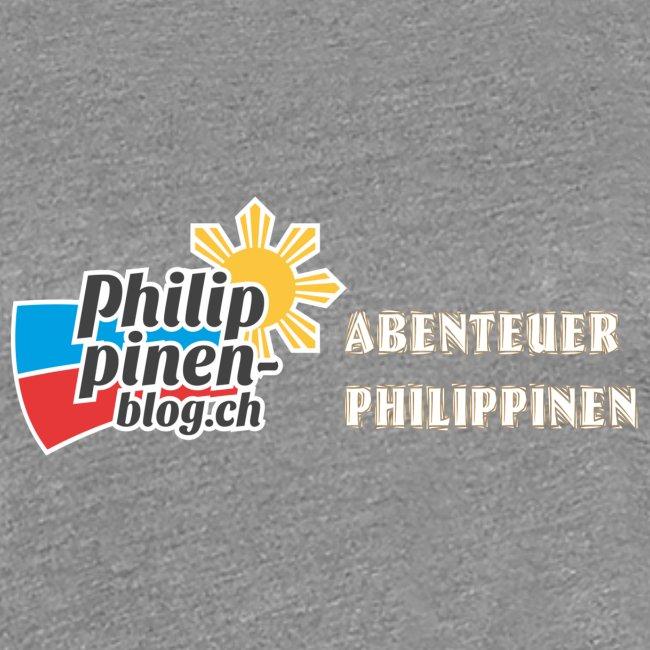 Philippinen-Blog Logo deutsch orange/weiss