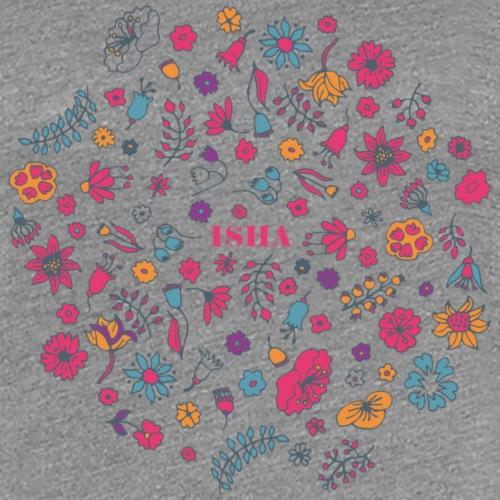 isha flowers circle - Frauen Premium T-Shirt