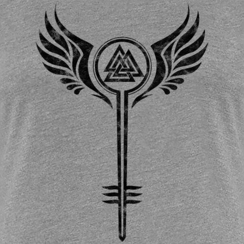 Walküre Schildmaid Symbol, Odins Valknut, Nordisch - Frauen Premium T-Shirt