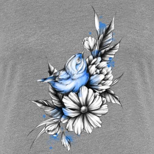 Bird with flowers - Koszulka damska Premium
