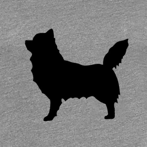 Chihuahua pitkakarva musta - Naisten premium t-paita