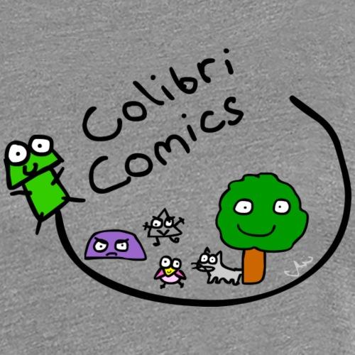 Colibri Comics Logo Gecko huii - Frauen Premium T-Shirt