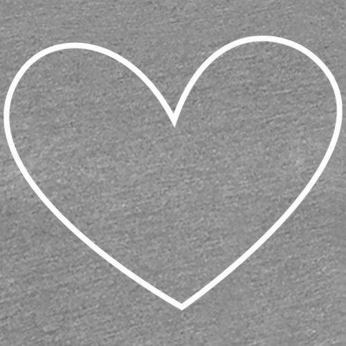 White heart - Premium-T-shirt dam