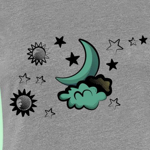 Diseño para pareja luna y telescopio - Camiseta premium mujer
