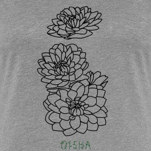 qisha blumen abstrakt - Frauen Premium T-Shirt