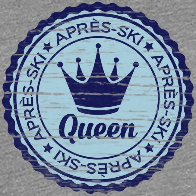 Apresski Queen Grunged Badge Shirt