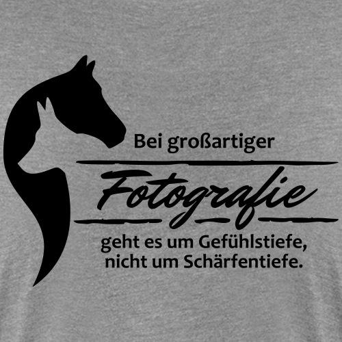 Gefühlstiefe vs. Schärfentiefe - Frauen Premium T-Shirt