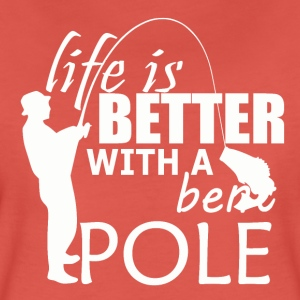 Bent Pole - Fishing - Women's Premium T-Shirt