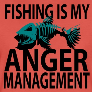 Anger Management - Fiskeri - Dame premium T-shirt