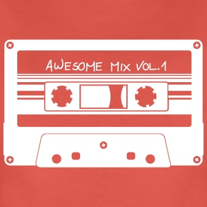 "Kassett ""Awesome Mix"" - Premium-T-shirt dam"