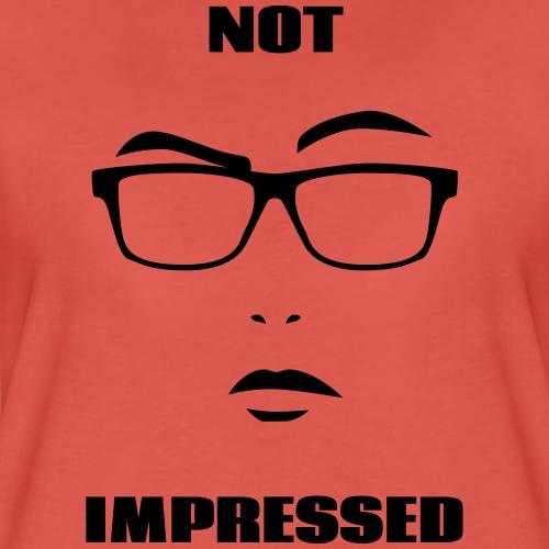 not impressed femme - T-shirt Premium Femme