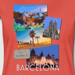 Barcelona Catalunya Spain poster travel t shirt - Women's Premium T-Shirt