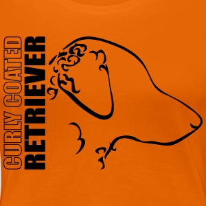 Curly coated retriever PROFIL - Dame premium T-shirt