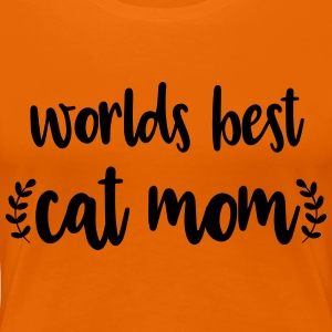 Cat Mom - Premium-T-shirt dam