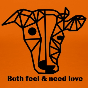 Dog and cow - different and yet the same! - Women's Premium T-Shirt