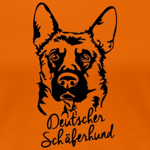 GERMAN SHEPHERD PORTRAIT - Women's Premium T-Shirt