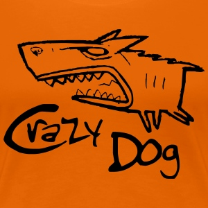 crazy dog ​​1 - Frauen Premium T-Shirt