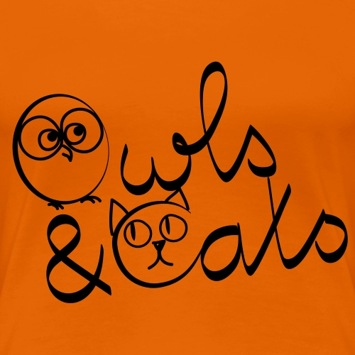 Owls and Cats - Frauen Premium T-Shirt