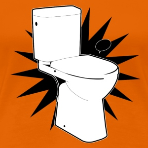 Vector toilet (toilet Super) - Women's Premium T-Shirt