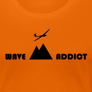 Wave addict black - Women's Premium T-Shirt