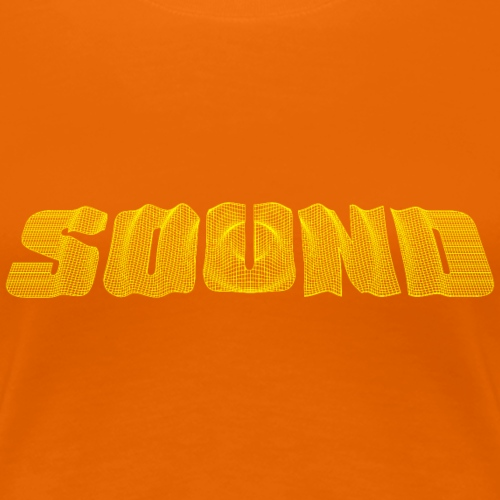 Sound Text gelb - Frauen Premium T-Shirt
