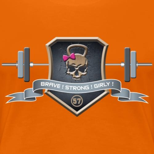 Logo Brave Strong Girly - T-shirt Premium Femme
