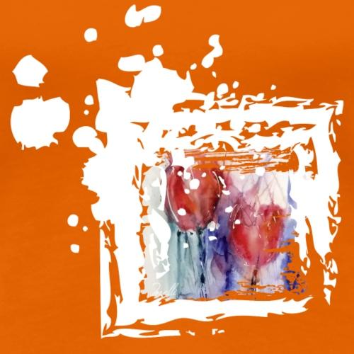 Tulpen Blumen Weiss Kunst Motiv - Frauen Premium T-Shirt