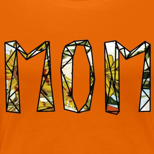 Blumen Mom - Frauen Premium T-Shirt