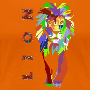 pop art Lion (ms) - T-shirt Premium Femme