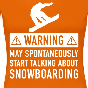 Funny Snowboard Gift Ideas - Women's Premium T-Shirt