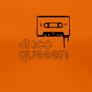 disco queen Music cassette 80s Retro Girl dancing - Women's Premium T-Shirt