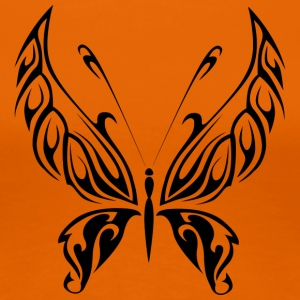 Svart Tribal Tattoo Butterfly som en gave - Premium T-skjorte for kvinner