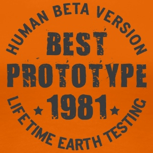 1981 - The year of birth of legendary prototypes - Women's Premium T-Shirt