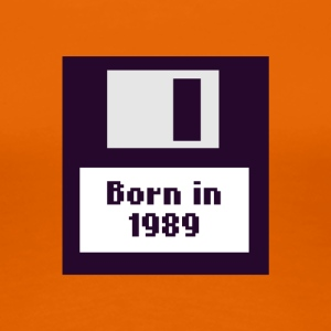 Born in 1989 floppy disk - Women's Premium T-Shirt