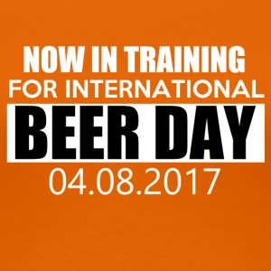 Training voor de internationale BIER DAG - Vrouwen Premium T-shirt